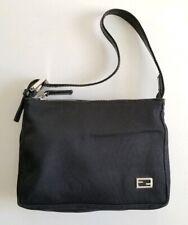 Rare Vintage Fendi Small Black Canvas Pouch/Handbag 26810