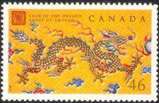 Canadá 2000 yo Dragon/saludos/FORTUNA/Lunar Zodiac/animales/naturaleza 1 V (n19918)