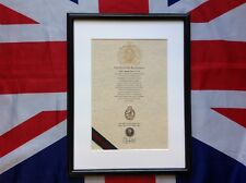 Oath Of Allegiance WRAC framed with Cap Badge
