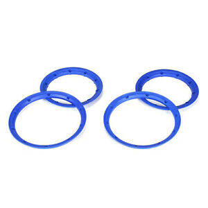 NEW Losi 5IVE-T / Desert Buggy XL Inner & Outer Beadlock Set Blue (4) LOSB7029