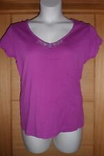 WOMENS MAGENTA PINK V NECK CASUAL SEQUIN EVERYDAY TOP SIZE 16-18....LOT 17