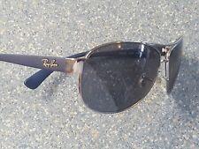Ray Ban Blue Gray Aviator Sport Glasses Frames RB 3386 Rubberized