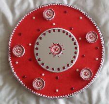Mehndi Henna Candle Wedding Celebration Charger Plates Thaal