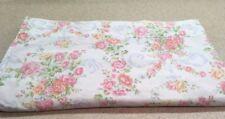 Ralph Lauren Queen Flat Sheet White Colorful Floral Pattern