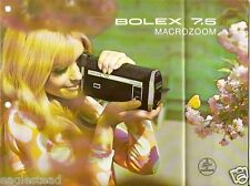 Camera Brochure - Bolex 7.5 Macrozoom - Super 8 Movie (CB112)