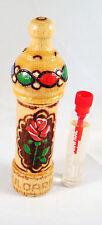 "Bulgarian ROSE OIL (OTTO) Perfume 2.1ml - Wood Box ""Muskal"" Hand made Souvenir"