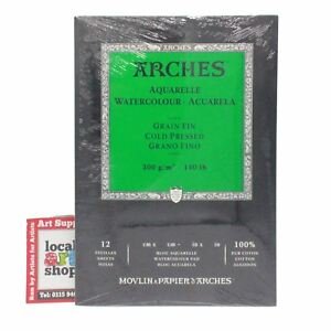 Aquarelle Arches Watercolour paper Pad Cold Pressed artists paper 12 Sheet 23x31