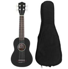 """NEW Mini 21"""" Acoustic Guitar Pick String  Black Strings Basswood Plywood"""