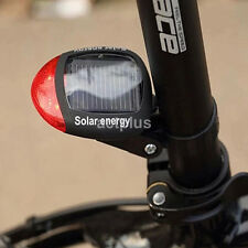 Lumens LED Bicycle Bike Cycling Rear Tail Night Light Solar Rechargeable US