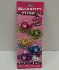 NEW Fashion Angels Hello Kitty Tapeffiti 5-pk Decorative Tape Arts n Crafts