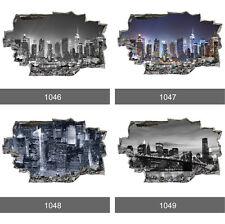 New York City Skyline Manhattan 3D Art Wall Mural Photo Wallpaper Wall Stickers