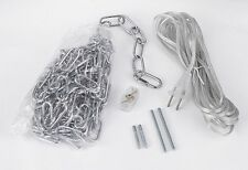 Chrome 14' Swag Plug In Hanging Kit For Chandelier Chandeliers Lighting