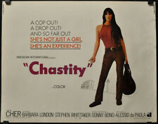 CHASTITY 22X28 ORIGINAL 1969 ROLLED MOVIE POSTER CHER SONNY BONO BARBARA LONDON