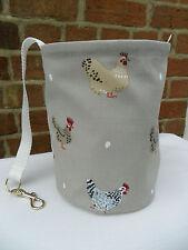 Hanging Clothes Peg Bag, Laundry Pot Handmade, Sophie Allport Hen Chicken Fabric