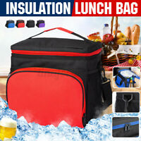 Outdoor Insulated Lunch Bag Food Box Container Picnic Shoulder Bag Camping Large