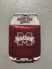 Ncaa Mississippi Ms State Sequined Burgundy Can Koolie game day Koozie