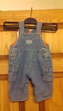 PUMPKIN PATCH FLEECE LINED DENIM DUNGAREES AGE 3-6 MONTHS