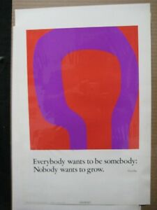 EVERYBODY WANTS TO BE SOMEBODY VINTAGE POSTER GARAGE 1970's GOETHE CNG1904