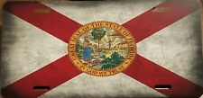 FLORIDA STATE FLAG Custom License Plate Sunshine State Emblem Metal Version # 1