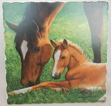 Horse Trivet | Tumbled Stone | Mare and Foal | Made in USA