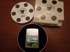 STARS OF HOLLYWOOD HOLLYWOOD HILLS HOLLYWOOD SIGN ZIPPO LIGHTER MINT IN TIN