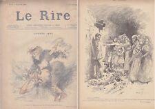 C1 LE RIRE Janvier 1895 AFFAIRE DREYFUS Caricatures HEIDBRINCK et KIKERIKI