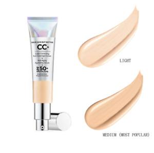IT Cosmetic CC Cream Full Coverage Foundation SPF 50 LIGHT or Medium 1.08oz  hot