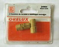 ORECA 2 CERNIERE CERNIERA DA INCASSO A MONTAGGIO INVISIBILE IN OTTONE COD. 24964