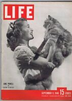 ORIGINAL Vintage September 9 1946 Life Magazine Jane Powell