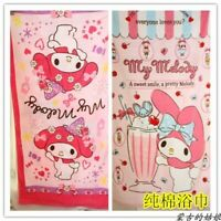 my melody bowknot Anime Bath Towels Cotton Towel swimming Washcloth gift new