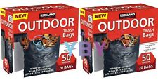 2 Packs Kirkland Signature Outdoor Trash Bags 50 Gallon 70 CT