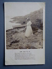 R&L Postcard: Song Card, Bamforth, 1904, Come Back to Me, Edwardian Lady Boat