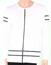 $40 INC Mens Line-Graphic Two-Tone Tee T-Shirt, White Pure, Size 2XL