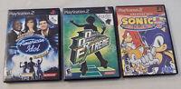 PlayStation 2 Game Lot - American Idol, Sonic Plus, Dance Revolution PS2