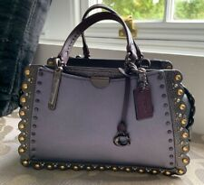 Coach Purple Metallic Handbag /Crossbody With Scallop Details *New*