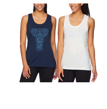 Gaiam Women's Relaxed Fit Soft Touch Tank Top, 2-pack! NWT!