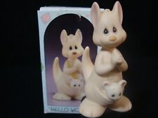 New ListingPrecious Moments-Kangaroo Momma And Baby In Pouch-Hello World-1999 Retired!