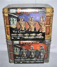 Mega Bloks DRAGONS WAR CHEST 9861 Bronze & 9862 Silver in Tins New/SEALED