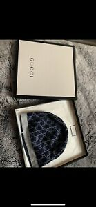 Brand New Authentic Boxed Baby Boys Gucci Blue Monogram Hat Rrp£50