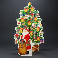 Christmas Tree w/ Santa Claus Pop Up Decorative Greeting Card Christmas Gift
