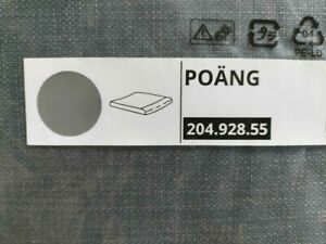 "IKEA POANG OTTOMAN CUSHION SKIFTEBO GRAY poly approx 20x2x22"" BRAND NEW FREESH"