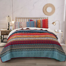 Luxury Classic Quilt Bedspread Pillowcases Coverlet Set Full/Queen King Size New