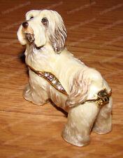 HAVANESE Trinket Box (Pedigree Dog Collection, 3212) Bejeweled, Baked Enamel