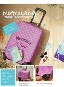 Mermaid On Tour Suitcase Pink Luggage Protector Cover By Avon