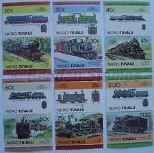 1985 NIUTAO Set #2 Train Locomotive Railway Stamps (Leaders of the World)