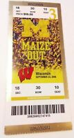 2006 Michigan Wolverines Wisconsin Badgers Ticket Stub Football