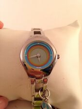 Relic Ladies Watch with Animated Peace Sign Dial, Band with Charm ZR55240-H29