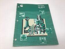 Cummins Diesel Engine 4B 4BT 4BTA 3.9 Generator Drive Parts Book Catalog  1992