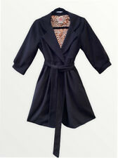 Anthropologie Aoyama Itchome Black Timeless Leopard Lined Coat Small