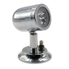 Marine RV Wall Mount Cabin Light 3 LED Touch Dimming Polished Chrome Lunasea